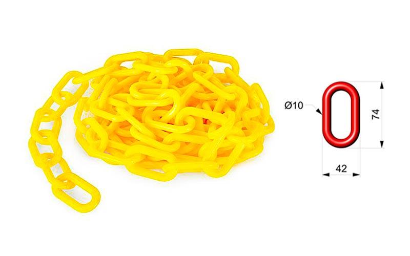 Cadena de Plástico Amarilla ART 106 01