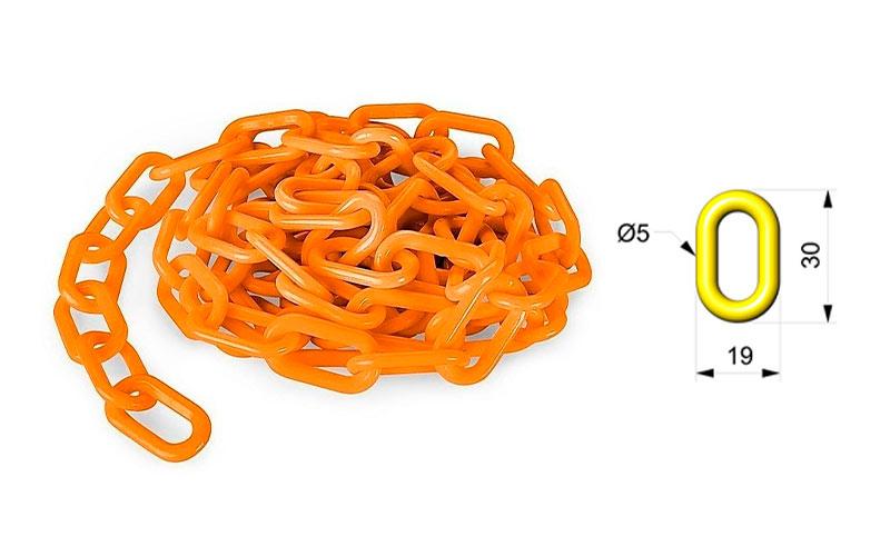 Cadena Para Señalizar Color Naranja Vial - C103NV