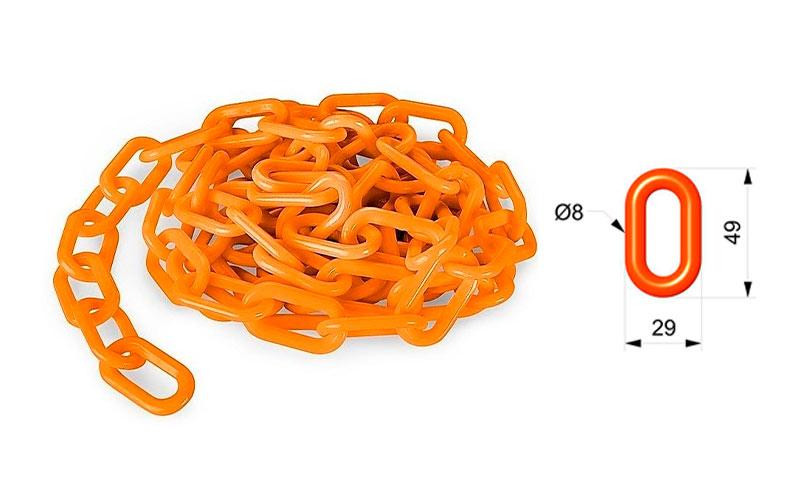 Cadena Para Señalizar Color Naranja Vial - C105NV