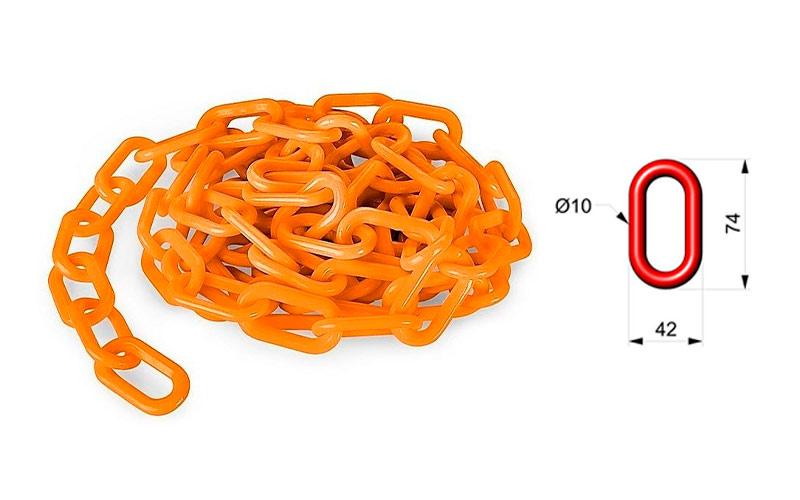 Cadena Para Señalizar Color Naranja Vial - C106NV 01