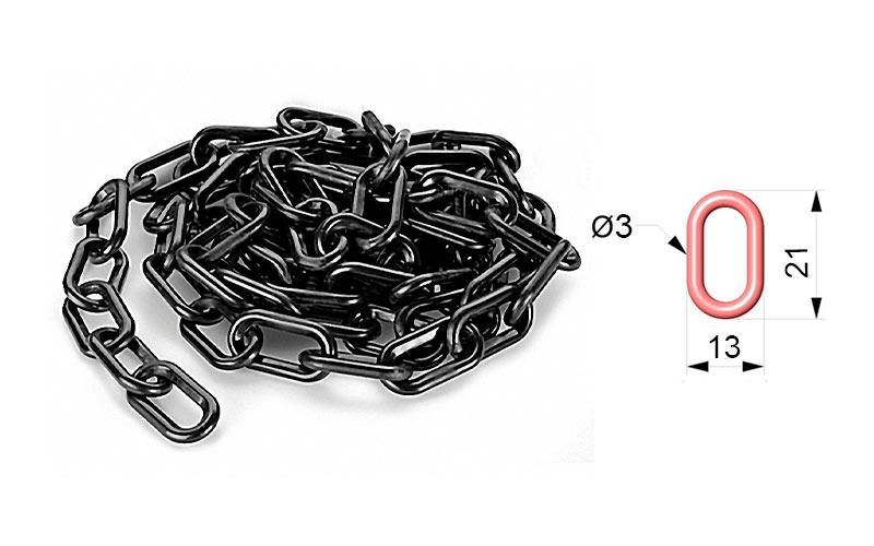 Cadena de Plástico Negra ART 102 01