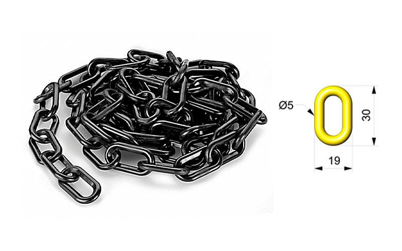 Cadena Para Señalizar Color Negro - C103NE 01
