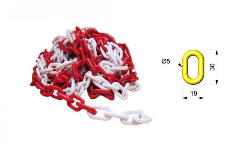 Cadena Para Señalizar Color Roja y Blanca - C103RB