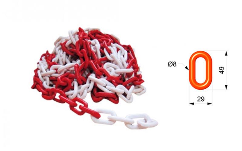 Cadena Para Señalizar Color Roja y Blanca - C105RB